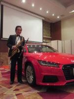 飯塚雅幸(サックス)が秋田キャッスルホテル「プラチナ・クールナイト」に出演しました。