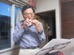 飯塚雅幸&藤間知枝つつじ満開の自宅で「大矢紀一オカリナディナーショウ」を開催!!