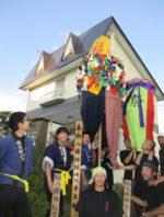 飯塚雅幸&藤間知枝の自宅に「ぼんでん」「横沢八幡神社」様のお祭りです。