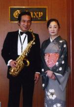 飯塚雅幸(サックス)&藤間知枝(日本舞踊)の「和と洋の調べ」も回を重ねました。