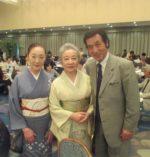藤間知枝の「おせち料理・ハタハタ」を持参、佐々木愛ご家族とお会いしました。