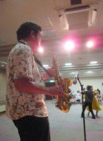 飯塚雅幸が CBSサークルパーティにお招き頂き、ダンスタイムで演奏しました。