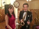 飯塚雅幸が あんてぃーく「ワインと音楽の夕べ」に伊藤和美さんと出演しました。