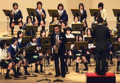 横手城南高校吹奏楽部定期演奏会での客演
