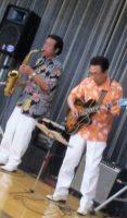飯塚雅幸が大仙市協和下淀川「七夕・ライブ」にギターの小西光雄さんと出演しました。