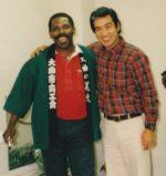 飯塚雅幸が若かりし頃、恐れ多くも世界のJAZZピアニスト「ジョージケイブルス」氏とセッションさせて頂いたシーンです。