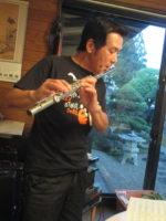 飯塚雅幸・藤間知枝が某邸宅にお招きを頂き、すばらしいディナーを頂きました。
