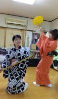 藤間知枝・日本舞踊稽古場は今「平成3年度・ゆかた会」の稽古で佳境を迎えています。
