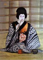 藤間知枝の会の背景画、元歌舞伎座絵師「鈴木敬三」氏から送られた彼の作品です。