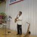 飯塚雅幸が秋田県議会議員「わたなべ英治・県政報告会交流会」でお祝いの演奏をしました。